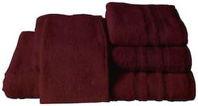 Maspar Corded Stripe Border Red Large Towel