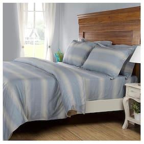 Maspar Cotsmere Blue Duvet Cover with 2 Pillow Case