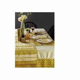 Maspar Vivacious Green 10 Seater Table Cover (1 Pc)