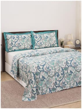 Maspar Eclectic Treasures Palmette Scroll 210 TC  1 Double Duvet Cover with 2 Pillow Covers