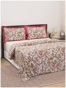 Maspar Eclectic Treasures Palmette Scroll 210 TC  1 Double Duvet Cover with 2 Pillow Covers