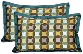 Maspar Festive Solace Green King Pillow Cover Set Of 2