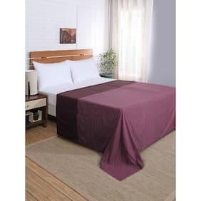 Maspar Flamboyance Purple Double Duvet Cover With Pillow Cases (3 Pc)