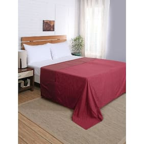Maspar Flamboyance Red Double Duvet Cover With Pillow Cases (3 Pc)