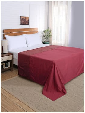 Maspar Flamboyance Red Double Duvet Cover With Pillow Cases (3 Pc)