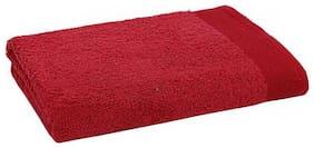 Maspar Embedded Stripe Red Large Bath Towel (1 pc)