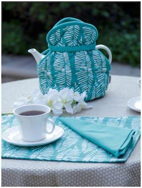 Maspar Generic Sienna Mint Green Tea Cozy 1 pc;Tray Cloth 1 pc and Set of 6 Napkin
