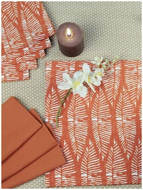 Maspar Sienna Red Set Of 6 Napkin And Placemat (12 Pc)