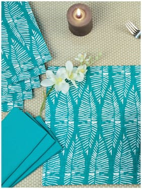 Maspar Sienna Green Set Of 6 Napkin And Placemat (12 pc)