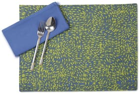 Maspar Sienna Blue Set Of 6 Napkin And Placemat (12 Pc)