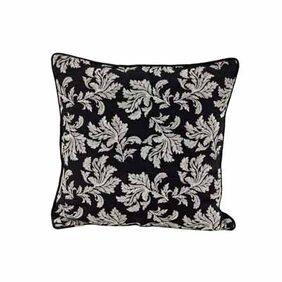 Maspar Leaf Etch Black Cushion Cover