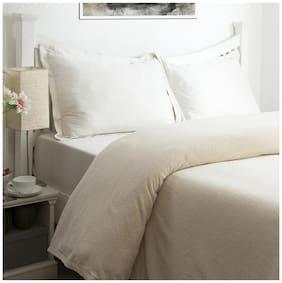 Maspar Melange Chenille Beige Double Size Bedcover