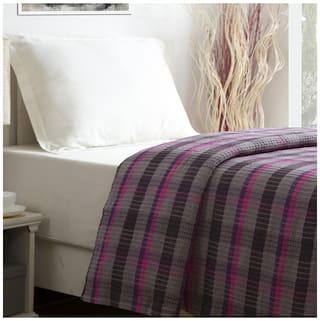 Maspar Metro City Pink Single Bed Cover  (1 Pc)