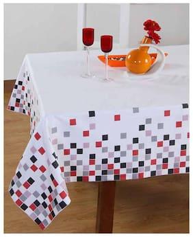 Maspar Majestic Splendor Red 8 Seater Table Cover (1 Pc)