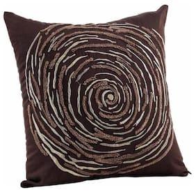 Maspar Luxe Brown Regular Cushion Cover (1 Pc)