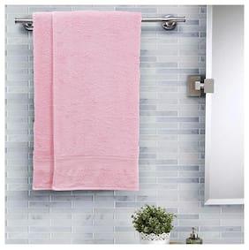 Maspar Salmon Solid Cotton 420 Gsm Bath Towel;Pack of 2;Pink (Inhouse collection)