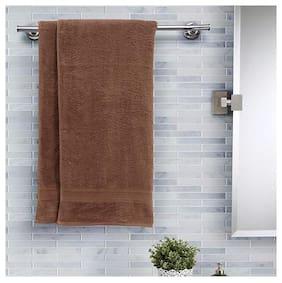 Maspar Salmon Solid Cotton 420 Gsm Bath Towel;Pack of 2;Brown (Inhouse collection)