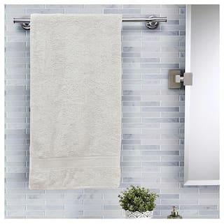 Maspar Salmon Solid Cotton 420 Gsm Bath Towel;Beige (Inhouse collection)