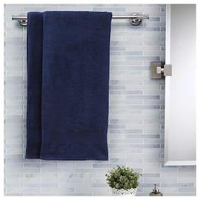 Maspar Salmon Solid Cotton 420 Gsm Bath Towel;Pack of 2;Blue (Inhouse collection)