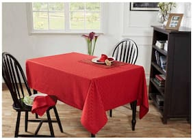 Maspar Kaleidoscope Red 4 Seater Table Cover (1 Pc)