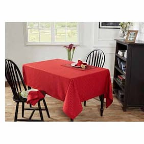 Maspar Kaleidoscope Red 6 Seater Table Cover (1 Pc)