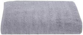 Maspar Solid 550 GSM Cotton Grey Large Bath Towel (Pack of 1)