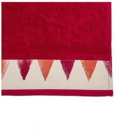 Maspar Spring Solitaire Exotica Print Red 1 Extra Large Bath Towel