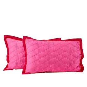 Maspar Spring Solitaire Red Pillow Sham Set Of 2