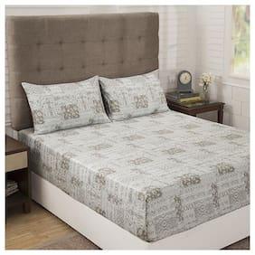 maspar Vintage Renascence 300 TC Egyptian cotton King Size Bed Sheet ( Pack of 3 )