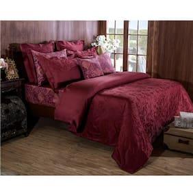 Maspar Vintage Bijoux Red Double Duvet Cover With Pillow Cases (3 Pc)