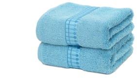 Maspar Sapphire Blue Hand Towel Set Of 2 (2 Pc)