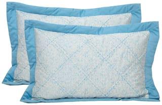 Maspar Sapphire Blue Pillow Sham Set Of 2