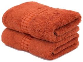 Maspar Sapphire Orange Hand Towel Set Of 2 (2 Pc)