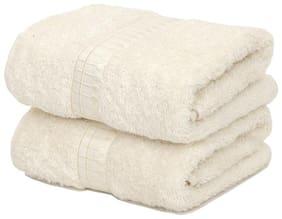 Maspar Sapphire Beige Hand Towel Set Of 2 (2 Pc)