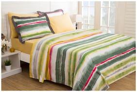 Maspar Waltz Green King Duvet Cover With Pillow Cases (3 Pc)