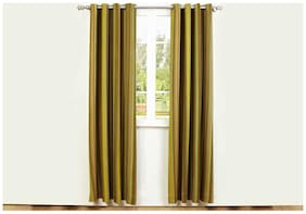 Maspar Botanic Poetry Whispering Winds Cotton Brown Door Curtain (Pack Of 1)