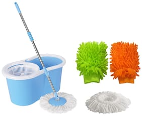 Mass Production Scale Blue And White Plastic Mop
