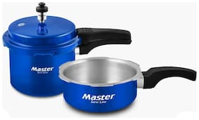 Master Family Aluminium Pressure Cooker Combo (Set of 3L cooker and 2L Pan ) (ISI Marked)