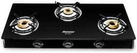 MASTER Perfect 3 Burner Regular Black Gas Stove ,