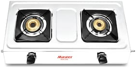 MASTER 2 Burners Stainless Steel Gas Stove - Silver