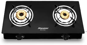 Master 2 Burner Regular Black Gas Stove , ISI Certified