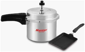Master Perfect Combo Aluminium  3 Ltr Outer Lid  Pressure Cooker And Bread Roaster (ISI Marked) (Set of 2)