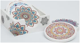Mati Ke Laal Mandala Design Coasters Set of 6