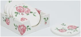 Mati Ke Laal Vintage Style Rose Coasters Set of 6