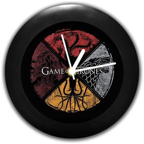 MC SID RAZZ Redwolf Game of Thrones Table Clock of Circular House Birthday Gifts | Officially Licensed by HBO;USA