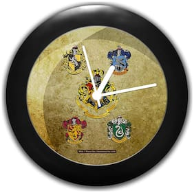Mc Sid Razz Harry Potter House Crest 2 Table Clocks |Desk Clock |Table Clock for Office Birthday Gift Official Licensed by Warner Bros;USA