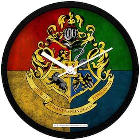 MC SID RAZZ Harry Potter House Crest 3 Wall Clock Officially Licensed By Warner Bros;USA