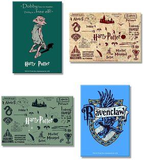Harry Potter Combo Pack of 4 Rectangular Fridge Magnet