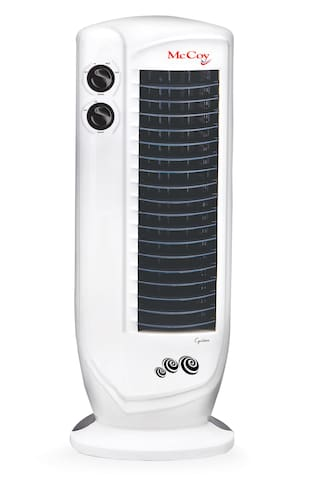 McCoy Cyclone Tower Fan  (White  Blue  Pack of 1)