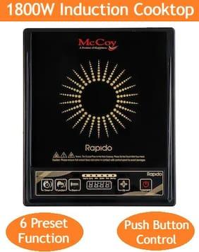 Mccoy RAPIDO 1800 W Induction Cooktop ( Black , Push Button Control)